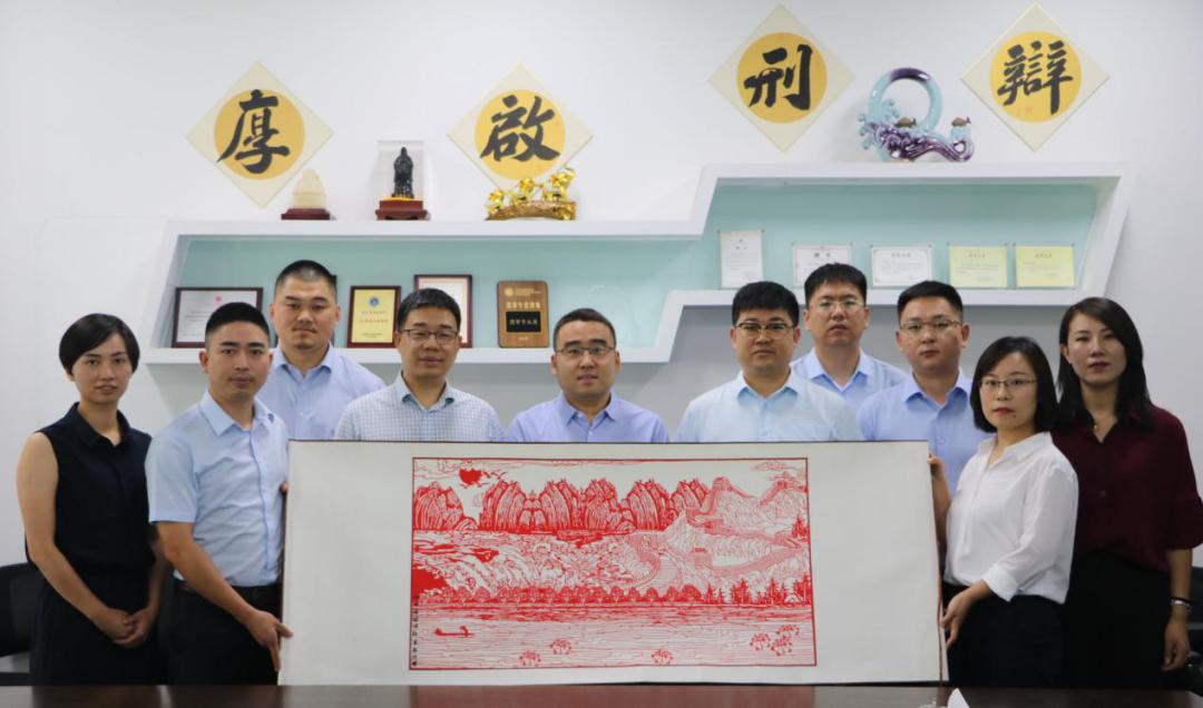 朱帅、靳志斌、张燕霞、窦渊律师拜访浙江厚启律师事务所