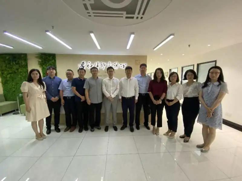 朱帅、靳志斌、张燕霞、窦渊律师拜访上海市君和律师事务所
